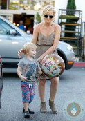 Amy Poehler out with son Archie in LA
