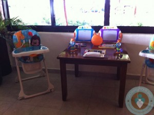 Azul Beach - dining room toys and highchairs