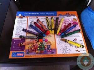 Azul Beach - dinner coloring activity
