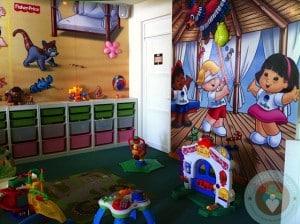 Azul Beach toddler play area