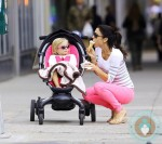 Bethenny Frankel with daughter Bryn Hoppy NYC