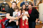 Bill Horn with daughter Simone Masterson-Horn, Ali Landry and son Marcelo Monteverde and Scout Masterson