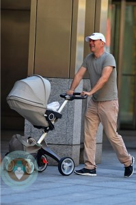 Bruce Willis walks in NYC with daughter Mabel ~ Stokke Xplory