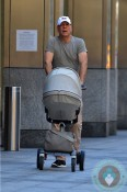 Bruce Willis walks with daughter Mabel in NYC ~ Stokke Xplory