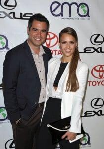 Cash Warren and Jessica Alba 2012 Environmental Media Awards