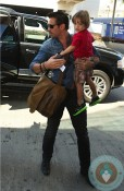 Colin Farrell with son Henry at LAX