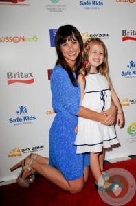 Constance Zimmer and daughter Coco at the BRITAX Red Carpet Event