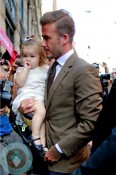 David Beckham and daughter Harper Balthazar Restaurant in Soho, NYC