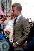 David Beckham and daughter Harper Balthazar Restaurant in Soho, NYC
