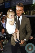 David Beckham with daughter Harper Balthazar Restaurant in Soho
