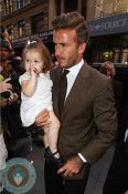 David Beckham with daughter Harper Balthazar Restaurant in Soho, NYC
