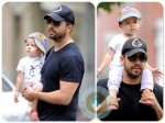 David Blaine with his daughter in NYC
