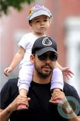 David Blaine with his daughter out in NYC