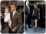 David and Victoria Beckham with daughter Harper Balthazar Restaurant in Soho, NYC
