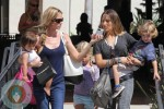 Denise Richards with Eloise, Brooke Mueller with Bob Sheen