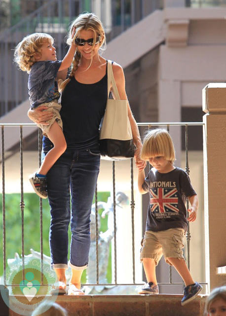 Denise Richards with Max and Bob Sheen