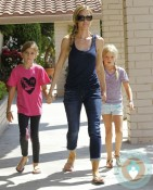 Denise Richards with daughters Lola and Sam Sheen