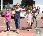 Denise-Richards-with-daughters-Sam,-Lola-and-Eloise,-Brooke-Mueller-and-Max-Sheen