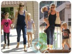 Denise Richards with daughters Sam and Lola, Max and Bob Sheen