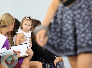 Harper Beckham  front at Victoria's SS 13 show NYC