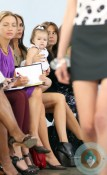 Harper Beckham sits front at Victoria's SS 13 show NYC