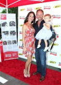 Ian and Erin Ziering with their daughter Mia at the BRITAX red Carpet event