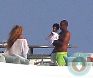 Jay-Z and Beyonce with daughter Blue Ivy vacationing in the South of France
