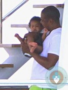 Jay-Z with daughter Blue Ivy vacationing in the South of France