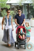 Jessica Alba & Cash Warren out with their girls Honor and Haven