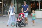 Jessica Alba and Cash Warren out with their girls Honor and Haven