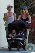 Jillian Michaels and Heidi Rhoades with Lukensia and Phoenix Michaels LA copy