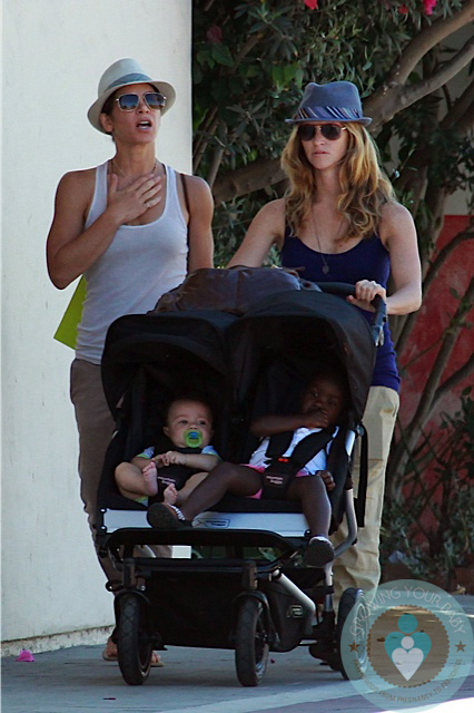 Jillian Michaels and Heidi Rhoades with Lukensia and Phoenix Michaels LA copy