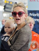 Kate Hudson with son Bingham at TIA