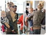 Kate Hudson with son Bingham at Toronto International Airport