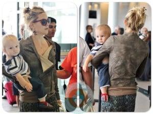 Kate Hudson with son Bingham at Toronto International Airport