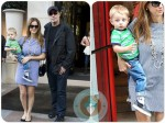 Kelly Preston and John Travolta out in Paris with their son Benjamin