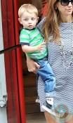 Kelly Preston with her son Benjamin in Paris
