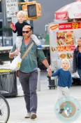 Liev Schreiber out in NYC with his sons Alexander Pete and Samuel Kai