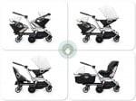 Orbit Helix double stroller configurations