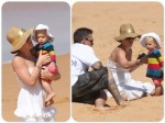 Pink, daughter Willow and husband Carey Hart At the beach in Australia