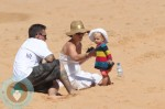 Pink, daughter Willow & husband Carey Hart At the beach in Australia