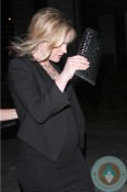 Pregnant Anna Paquin out for dinner in LA
