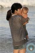Selma Blair plays with her son Arthur @ the beach