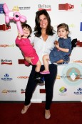 Tiffani Thiessen with daughter Harper Smith and Simone Masterson-Horn at the BRITAX Red carpet Event
