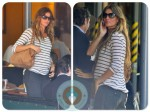 pregnant Gisele Bundchen lunches at Bar Pitti