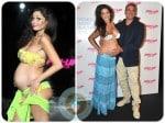 pregnant Raffaella Fico models for Pin-Up Stars in Milan