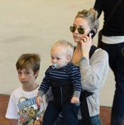 Kate Hudson Catches A Flight With Her Boys in France