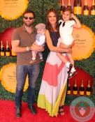 Alessandra Ambrosio with Jamie Mazur, Anja Mazur and Noah Mazur at the Veuve Clicquot Polo Classic