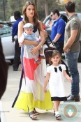 Alessandra Ambrosio with kids Anja and Noah Mazur at the Veuve Clicquot Polo Classic