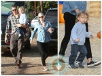 Ali Larter, Hayes Macarthur, Theodore Macarthur at the Pumpkin patch